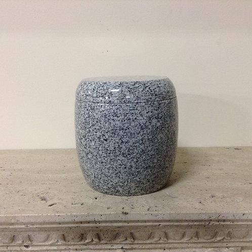 9x8 Granite Lunar Pearl Cylinder Urn-A