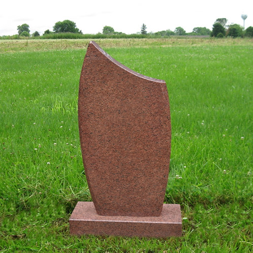 MN-97 Red Granite Cemetery Stone