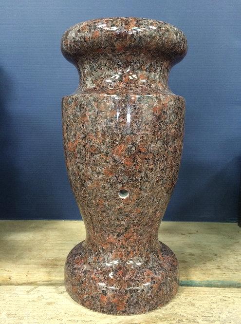 Dakota Mahogany Granite Monument Vase 12x6-A