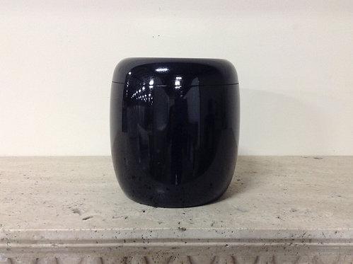 9x8 Granite Shanxi Black Cylinder Urn-A