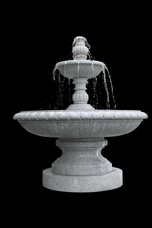 FT-22 Gray Granite Two Tier Fountain * Special Order*