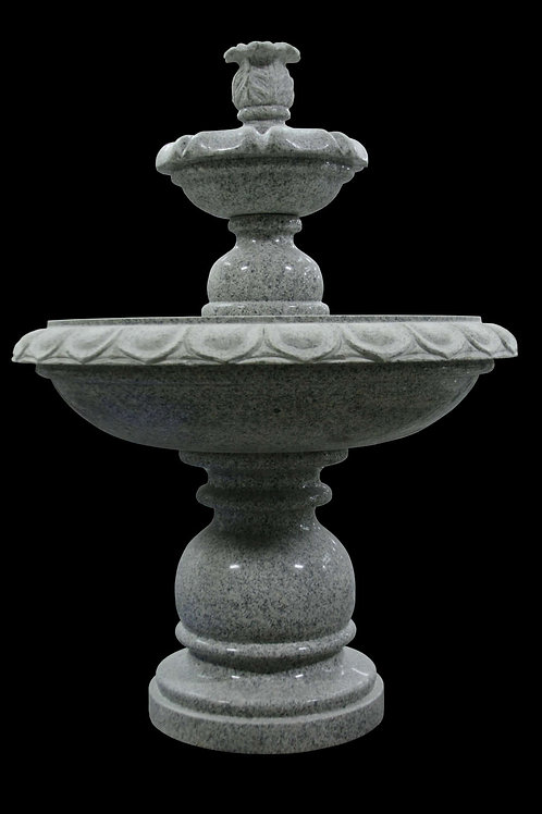 "FT-17 Gray Granite Two Tier 43"" Tall Fountain"