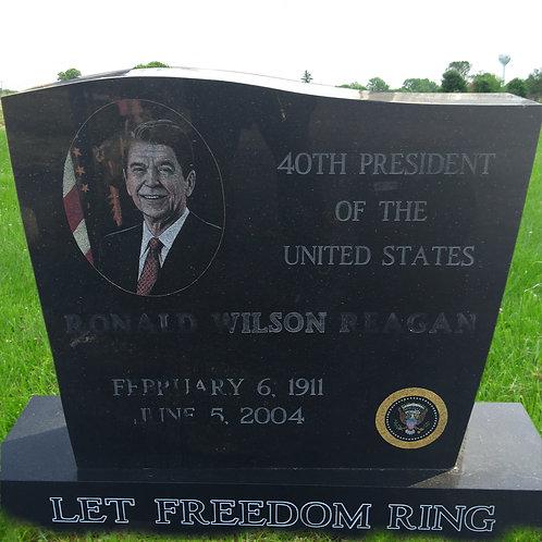 MN-197 Black Granite Tribute Memorial Ronald Regan