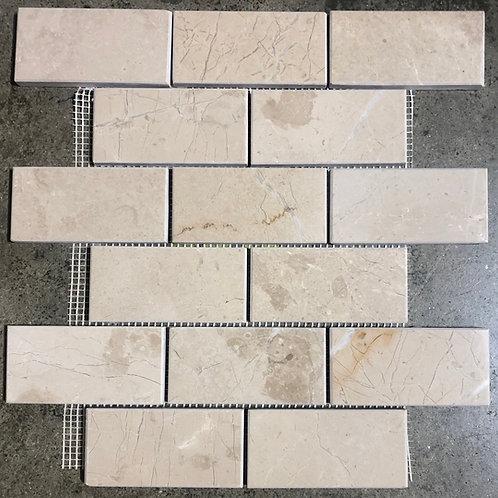 T-45 Creamy Marble Subway Backsplash 2x4 Tile