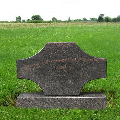 MN-110 Aurora Granite Cross Monument