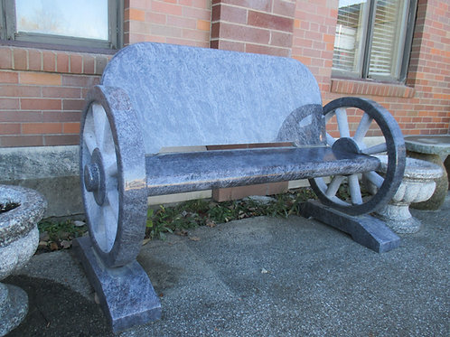 BE-22 Bahama Blue Granite Wheel Bench