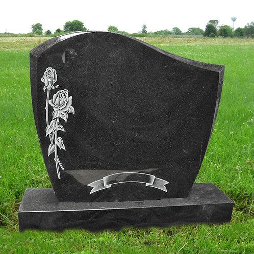 MN-43* Black Granite Cemetery Grave Mark