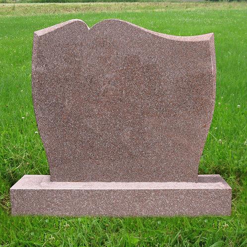 MN-44* Seashell Pink Granite Head Stone