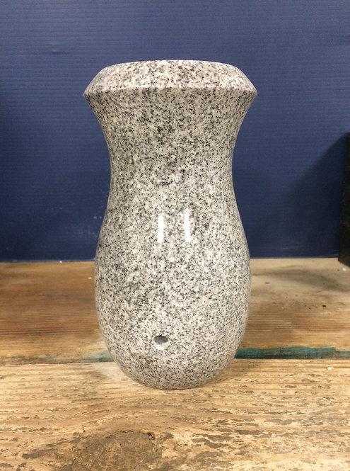 Gray Granite Monument Vase 7x4-D