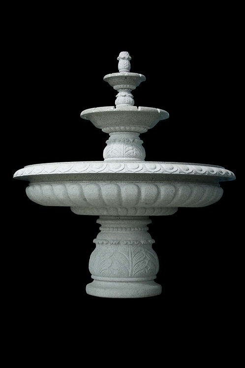 "FT-18 Gray Granite Two Tier 86"" Tall Fountain *Special Order*"