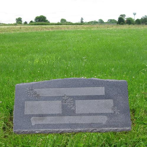 MN-170 * Gray Granite Slant Marker