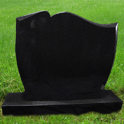 MN-46 Black Granite Upright Headstone