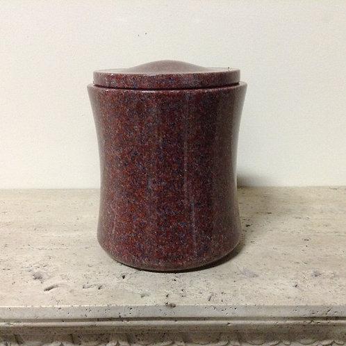 9.5x8 Granite India Red Concave Urn-B