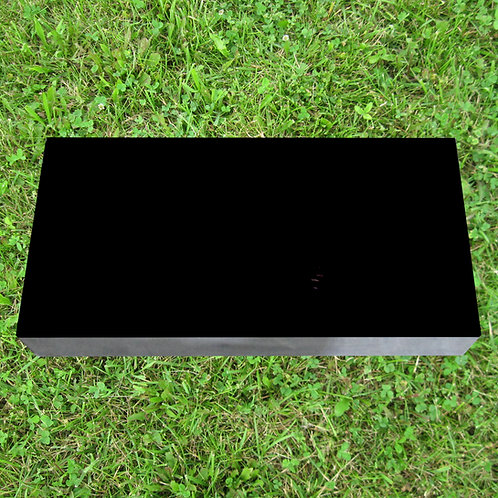 MN-234 Black Granite Monument Flat 20x14x4