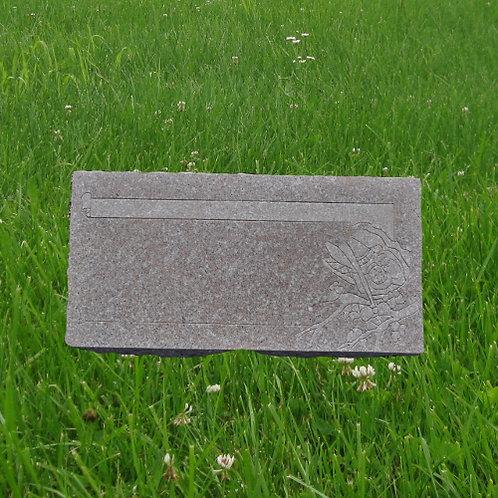MN-128* Seashell Pink Granite Cemetery Stone
