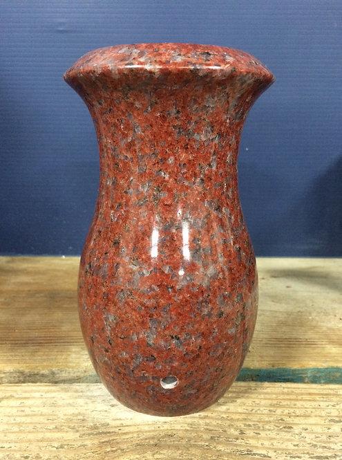 India Red Granite Monument Vase 7x4-D