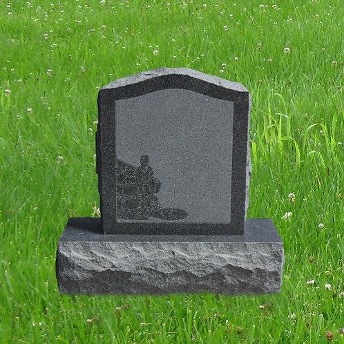 MN-90* Dark Gray Granite Small Cemetery Stone