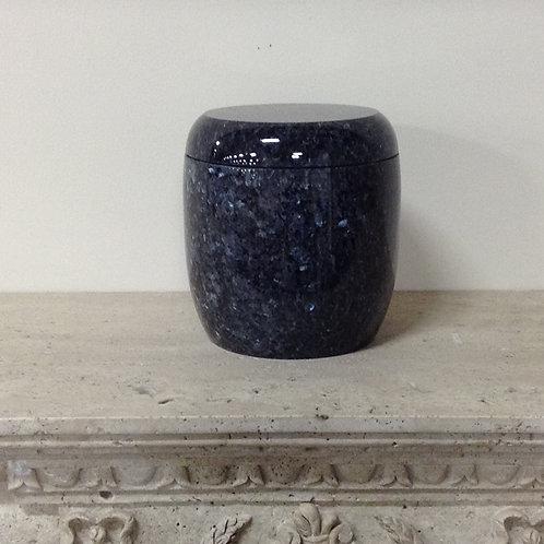 9x8 Granite Blue Pearl Cylinder Urn-A