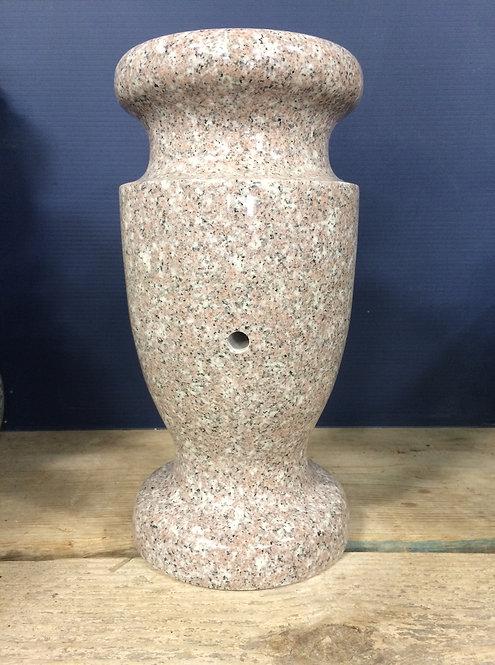 Seashell Pink Granite Monument Vase 12x6-A