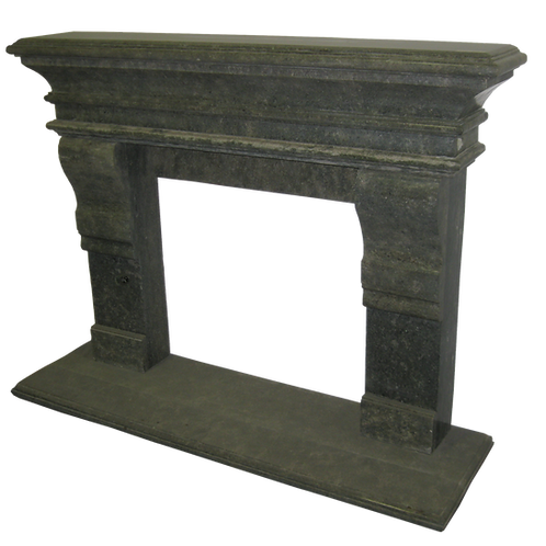 FPS-10  Gray Marble Fireplace Surround