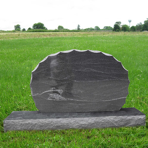 MN-13* Stardust Black Granite Sunset Gravemarker
