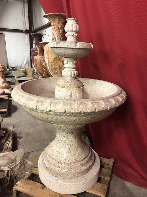 "FT-03-B Desert Gold Granite Decorative 58""Tall Fountain"