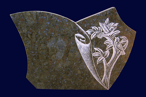 MP-32 Blue Pearl Granite Plaque