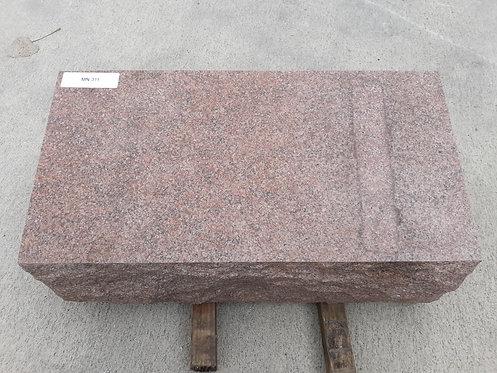 MN-311 Morning Rose Granite Slant Bevel Monument