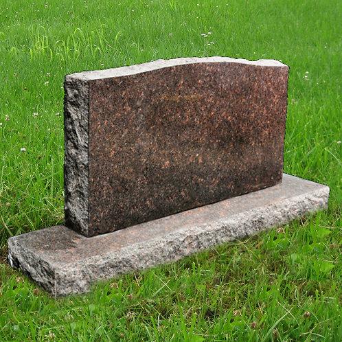 MN-36 Dakota Mahogany Granite Cemetery Tombstone