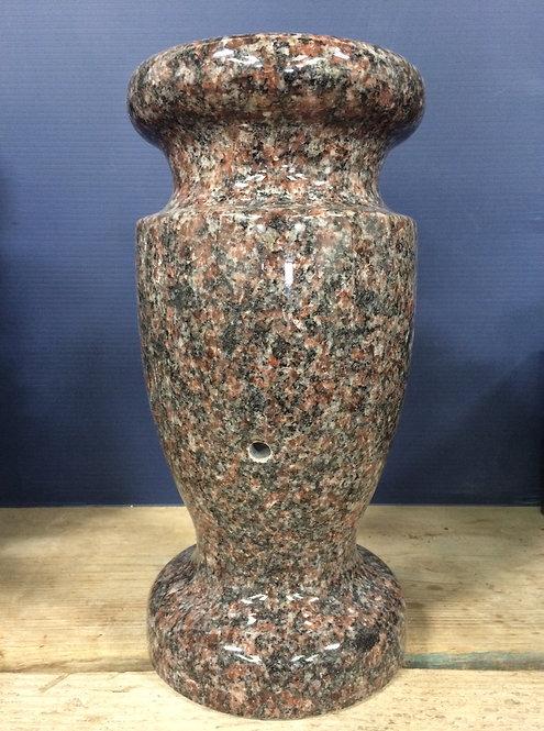 New India Mahogany Granite Monument Vase 12x6-A