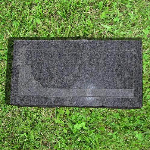 MN-131 Bahama Blue Granite Memorial Flat Stone