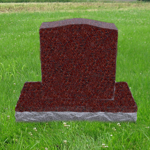 MN-211 India Red Granite Monument 24x20x6