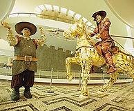 Dom Quixote, recclado, Conjunto Nacional, reciclagem, decoração, escultura, cavalo, horse, art, arte, artesanato