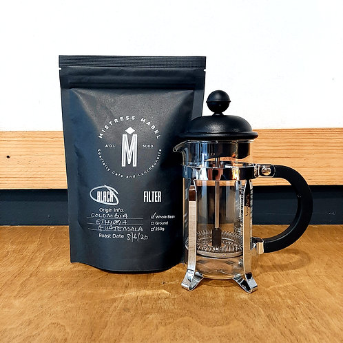 Bodum 3 Cup French Press + 250g Coffee