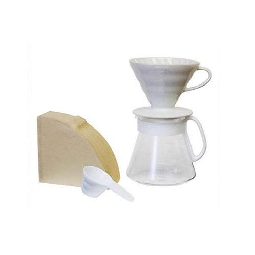 Hario V60 Ceramic Pour Over Set