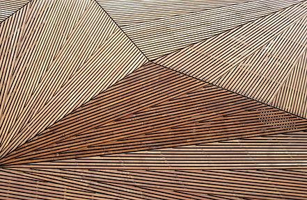 Decorative wooden cladding