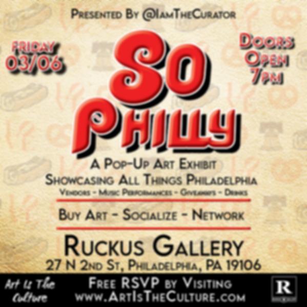 So Philly Pop Up Art exhibit