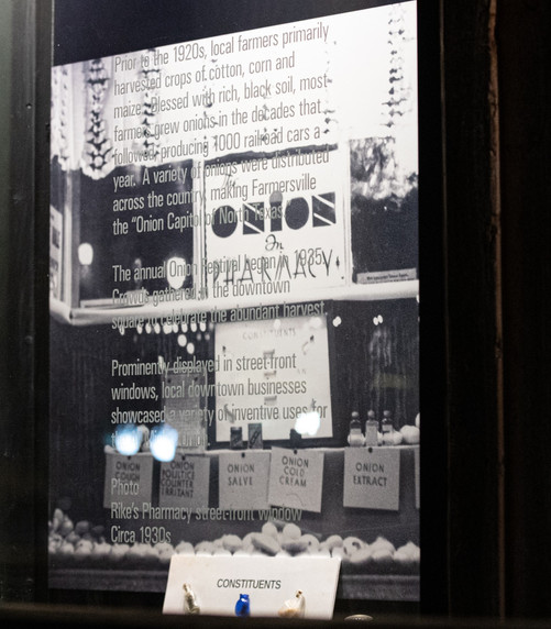Store-front replica of Rikes Pharmacy circa 1930s