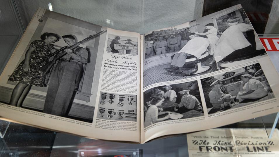 Lt. Audie Murphy's Farmersville Homecoming showcased in Life Magazine 1945