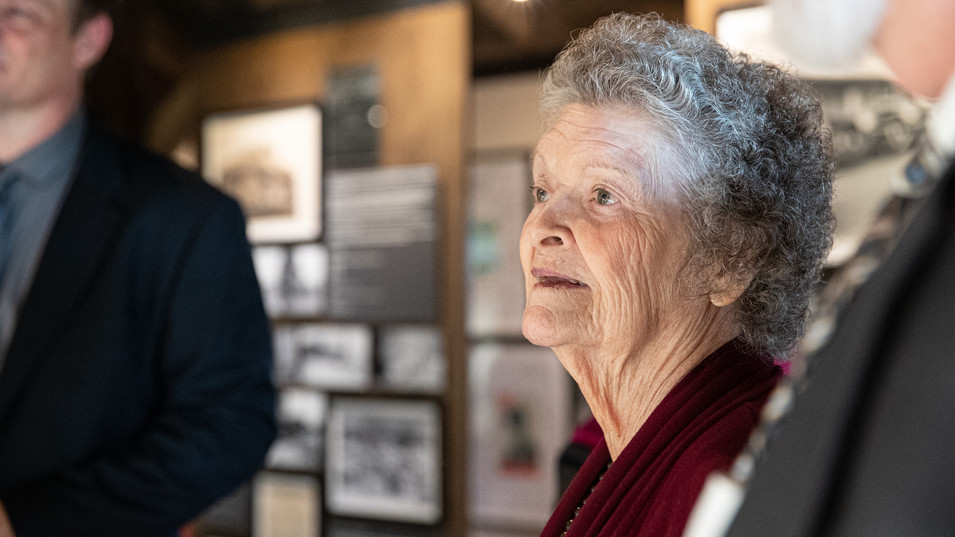 Nadine Murphy - Lt. Audie Murphy's youngest sister visits the unveiling of her brother, Audie Murphy's exhibits