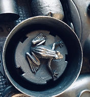 Frog detail from Mr. Frog's Dream