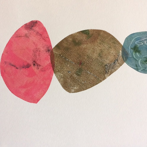 "Monoprint ""Sea Glass"""