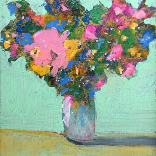 Flowers in Green Room