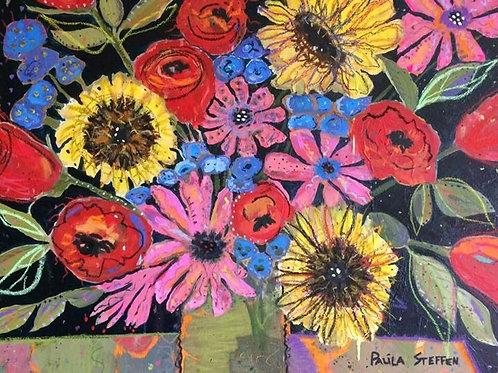 Three Sunflowers Nine Roses