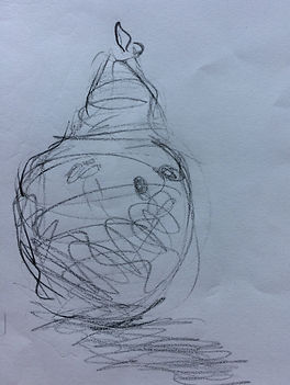 Pear from drawing class with Michael Wil