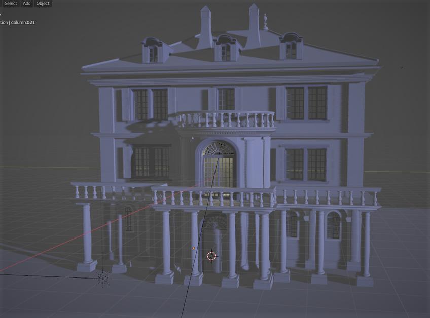 Mary's Exterior 3D Design (Blender)