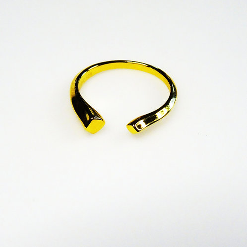 Gold  Double Noghteh Ring