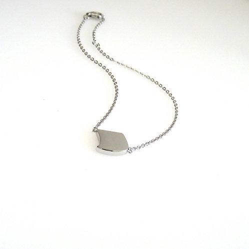 Silver Flat Noghteh Bracelet