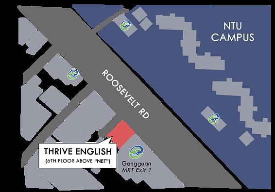 THRIVE English Gongguan Map.png