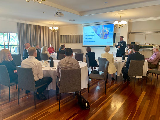 Caption: The Port of Bundaberg Trade Development Group Meeting attended by representatives from Bundaberg Regional Council, Department of State Development, Transport and Main Roads and key industry leaders in Bundaberg on Wednesday.